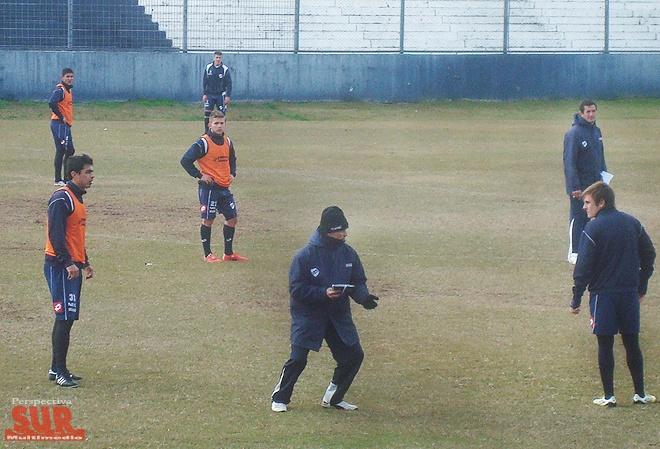 Quilmes hizo la primera práctica de fútbol de la era Broggi