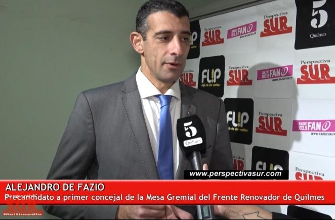 Alejandro De Fazio buscará una banca como concejal en Quilmes