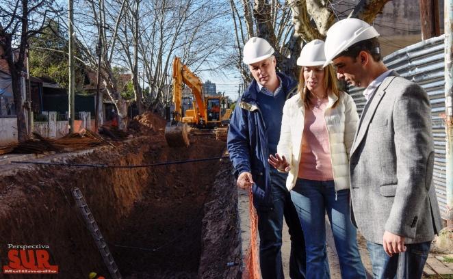 Vidal recorrió obras de saneamiento hidráulico en el partido de Morón