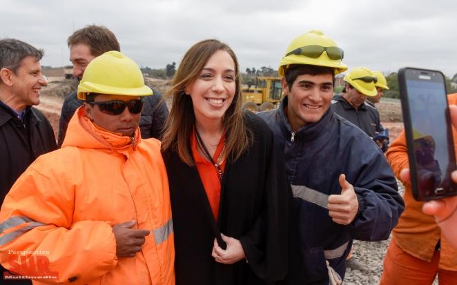 Vidal recorrió obras del Puente Lacarra que unirá Lanús con CABA