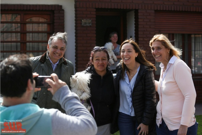 Vidal, Bullrich, Ocaña y los candidatos de Cambiemos hicieron el primer timbreo de la campaña para octubre