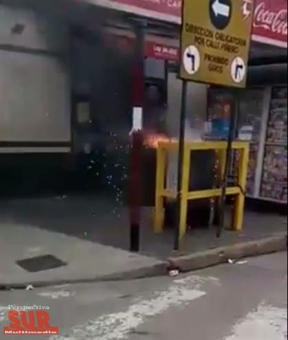 Prendieron fuego un tablero de media tensión en la estación de Lanús