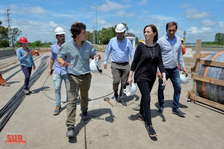 Vidal recorri� una obra clave para evitar inundaciones en La Plata y Ensenada