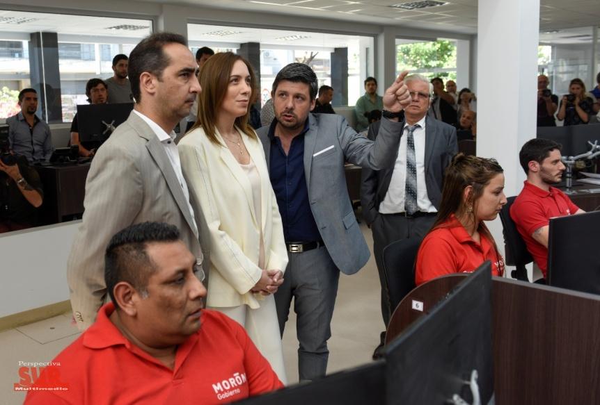 Vidal visit� el nuevo centro de operaciones y monitoreo del partido de Mor�n