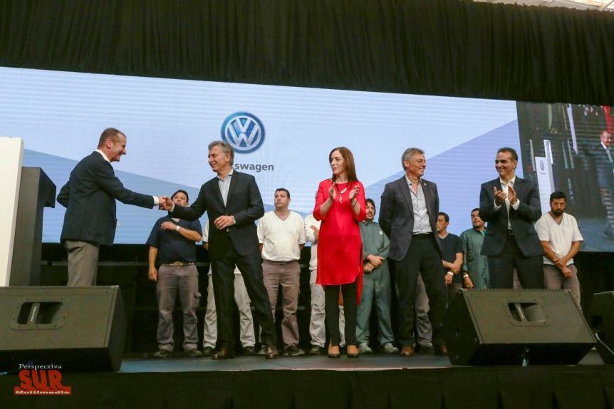 Vidal acompa�� a Macri en un acto de anuncio de inversiones de la Volkswagen