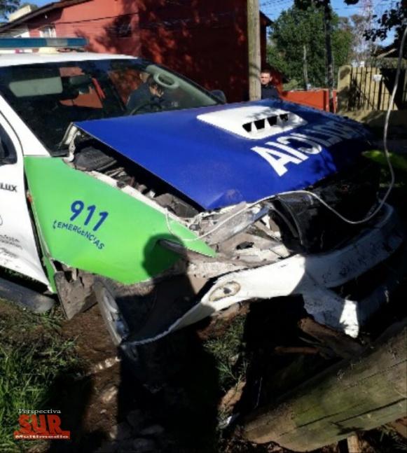 Robó un auto y lo atraparon tras chocarlo con una patrulla