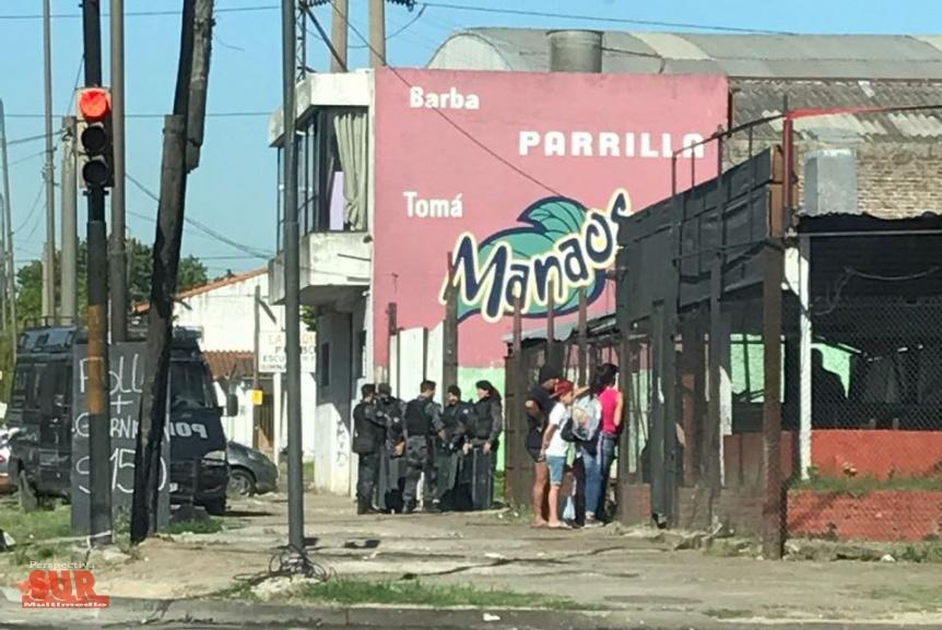 Desalojaron la parrilla de Amoedo y Avenida La Plata