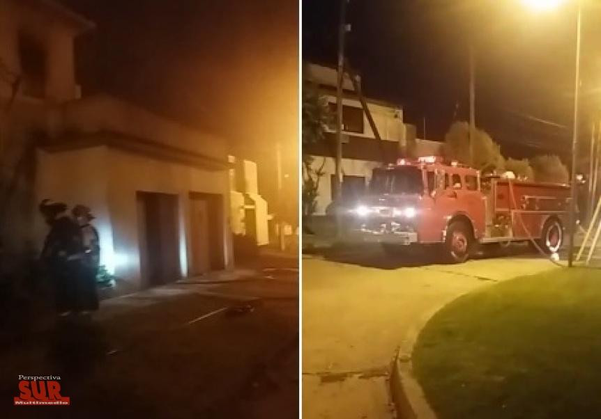 Se incendió una vivienda en Bernal: El propietario resultó con quemaduras