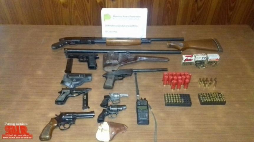 Secuestran un arsenal en Quilmes: Alquilaba armas a delincuentes