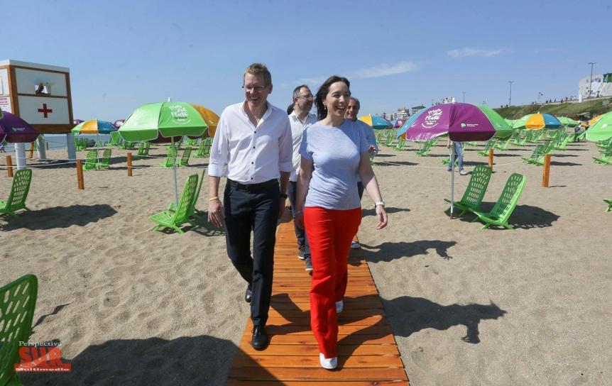 Vidal presentó tres nuevas playas gratuitas de Mar del Plata