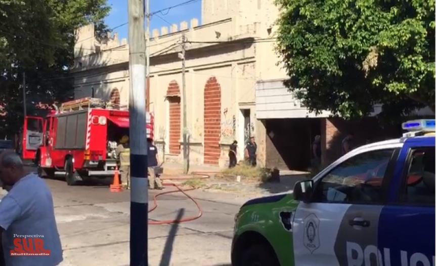 Principio de incendio en un depósito de Quilmes Oeste