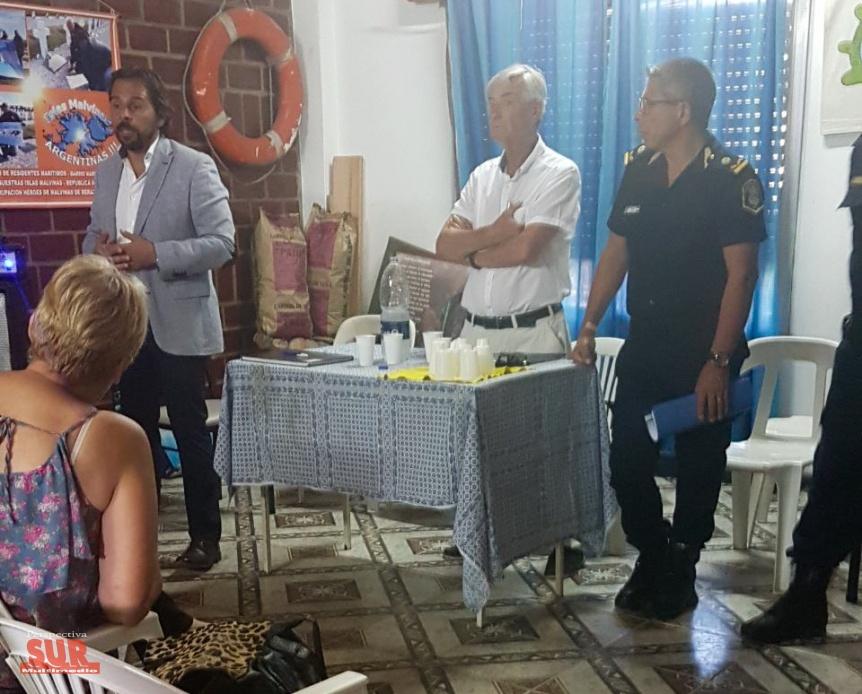 Autoridades de seguridad de la provincia se reunieron con comerciantes de Mar�timo