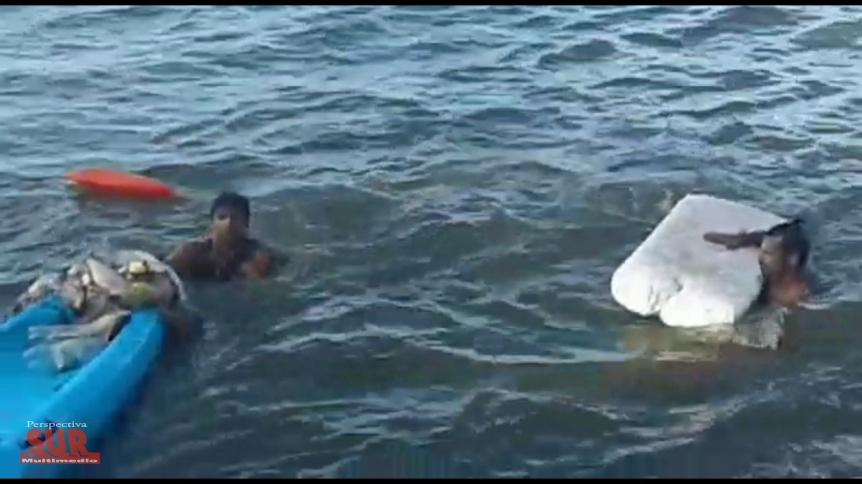 Guardavidas rescataron a un pescador en el río de Quilmes