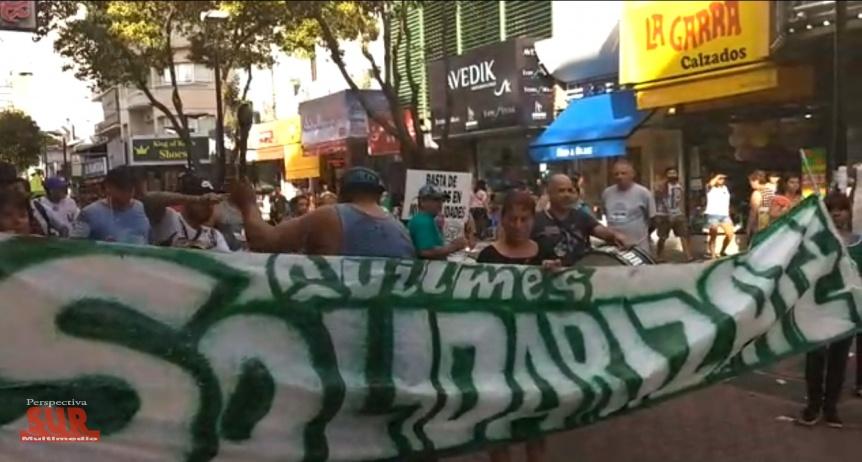 ATE Quilmes marchó por la ciudad reclamando la reincorporación de 103 municipales