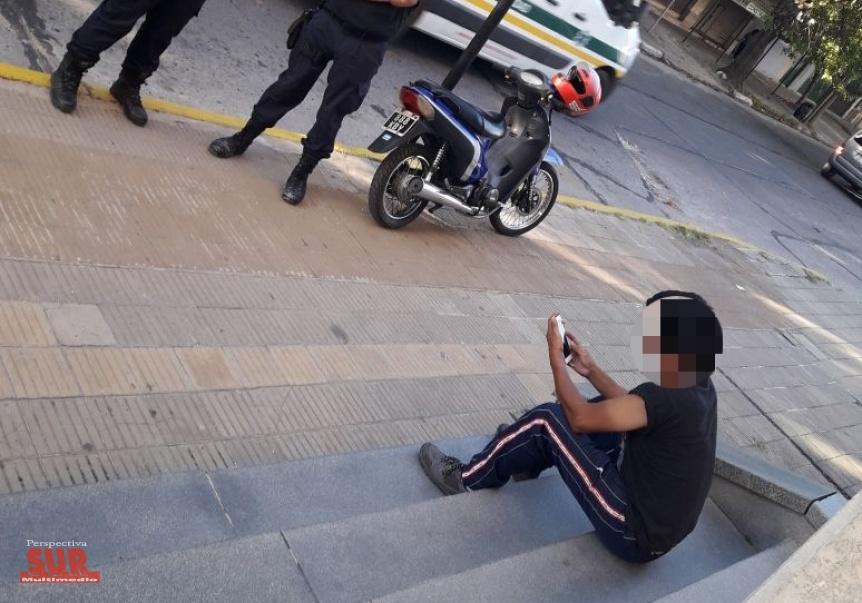 Motociclista borracho fue interceptado dentro del Cementerio de Ezpeleta