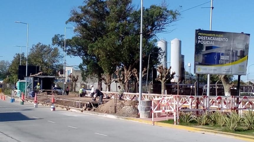 Avanza la construcción del destacamento policial de avenida Mitre y Esquel