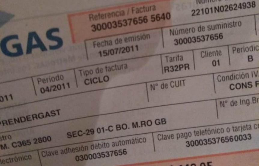 Vecino reclama la reconexión del gas a Metrogas y ENARGAS, sin éxito