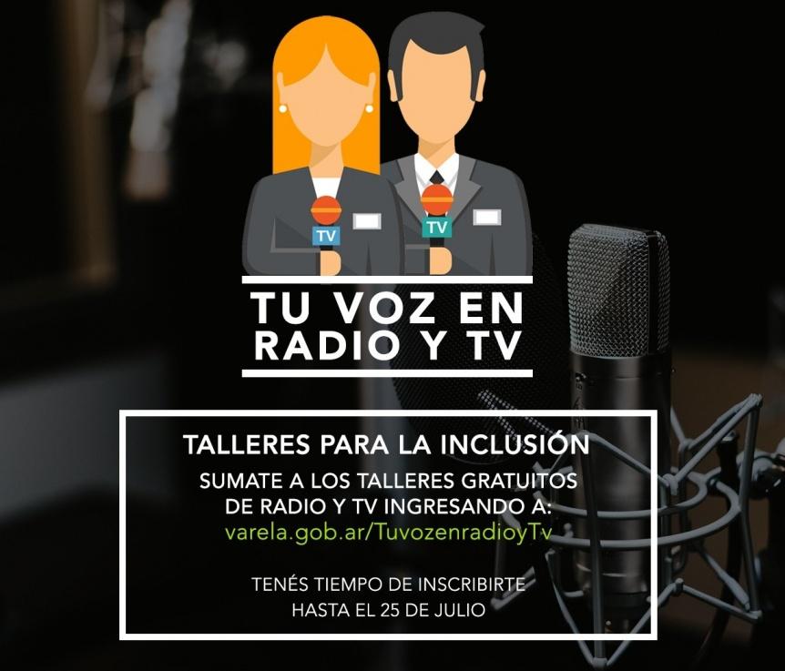 """Curso para jóvenes en Varela: """"Tu voz en radio y televisión"""""""