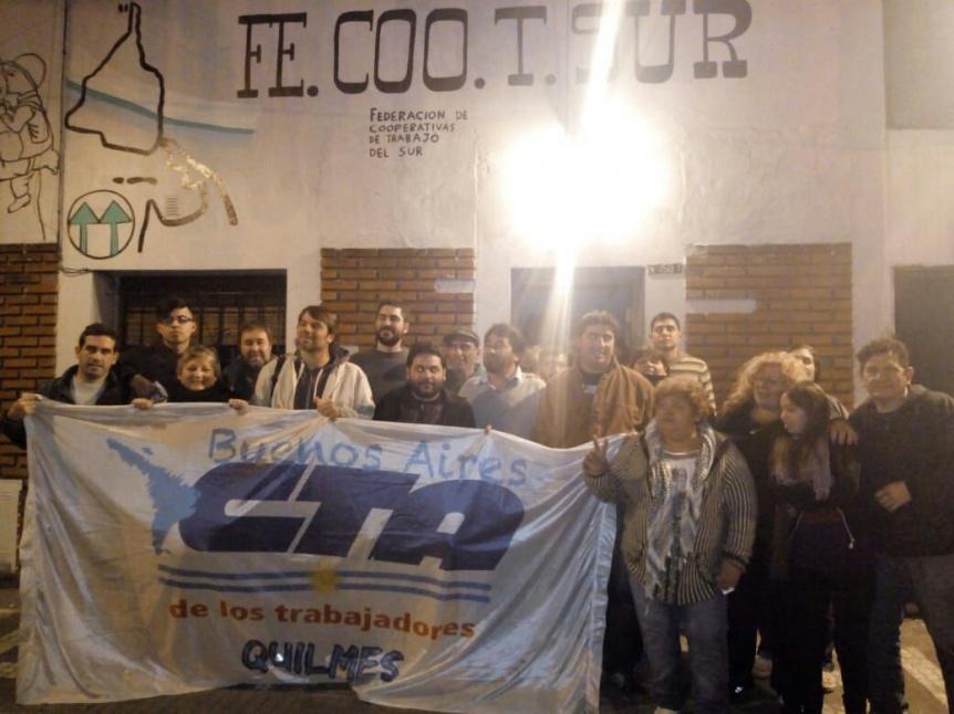 Reunión en Quilmes de una lista de la CTA y el Frente Novak