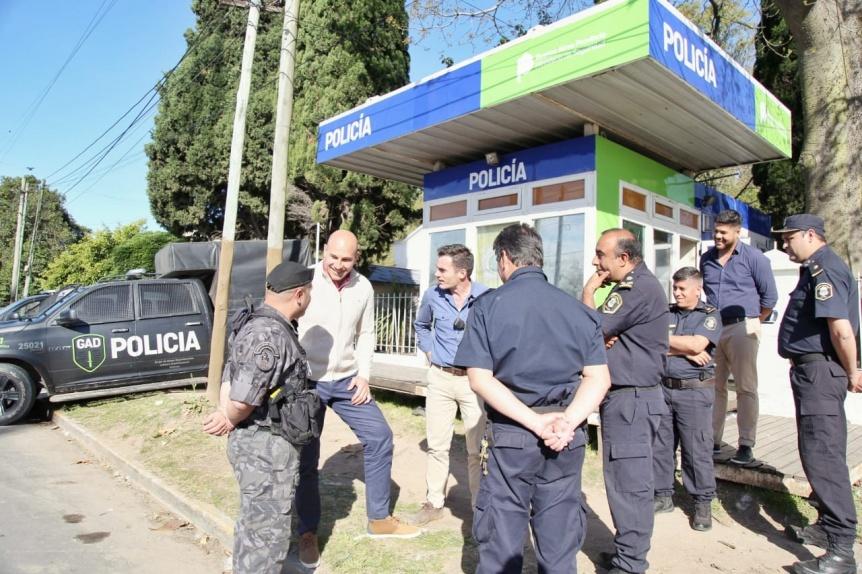 El Intendente supervisó el cierre del operativo de saturación en el barrio Los Eucaliptos