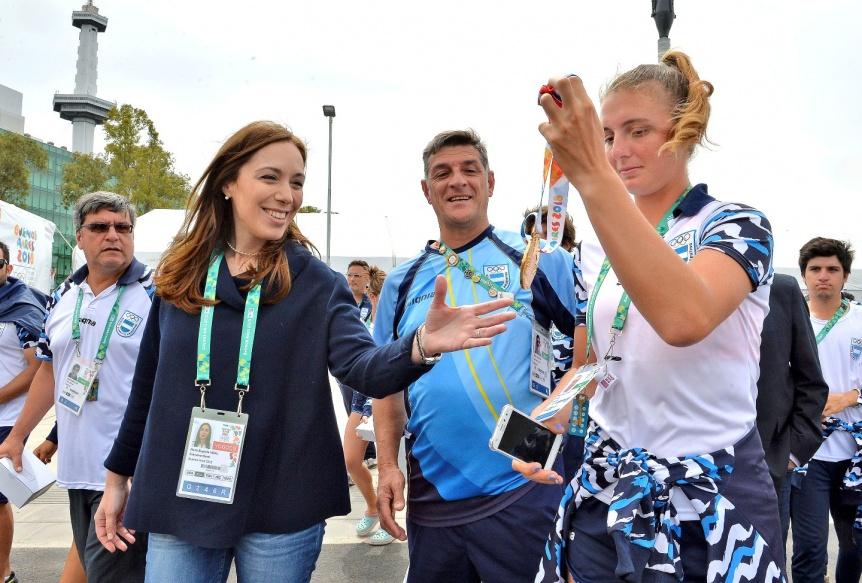 Vidal se reunió con atletas bonaerenses en la Villa Olímpica