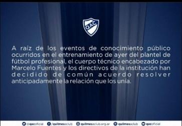 Confirmado: Marcelo Fuentes se fue del QAC y Leonardo Lemos lo reemplaza