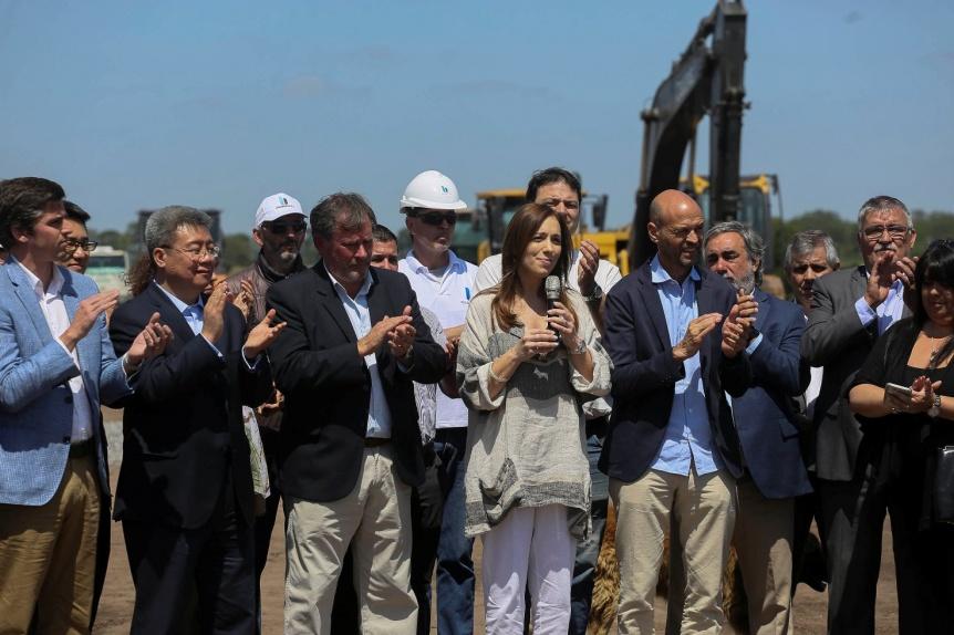 Vidal anunci� el inicio de una autopista sobre la Ruta Nacional N�5, que unir� Mercedes y Bragado
