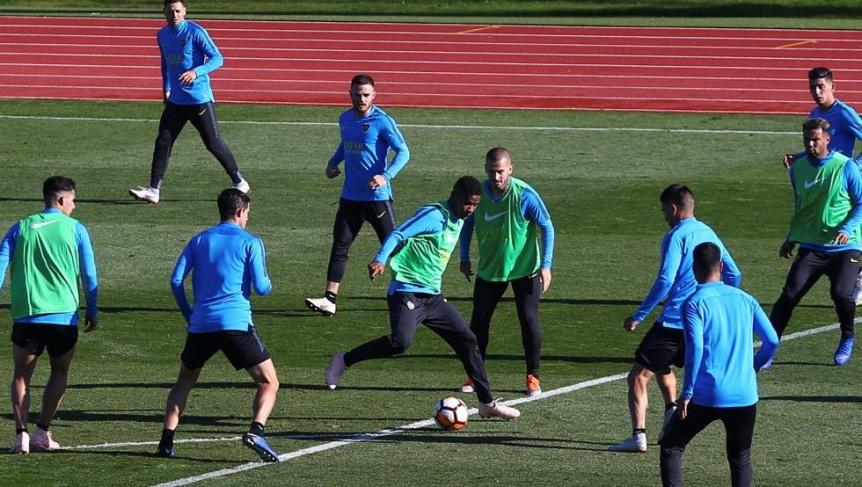 Boca se entren� en Madrid y Guillermo par� al equipo con un 4-4-2