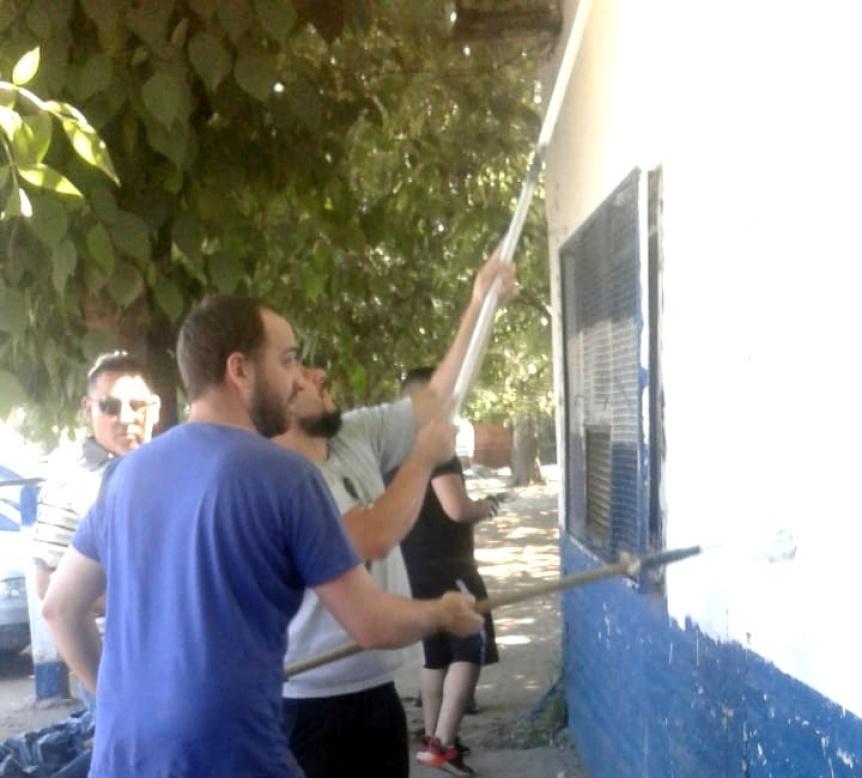 Jornada de voluntariado en el Club San Nicolás de Florencio Varela