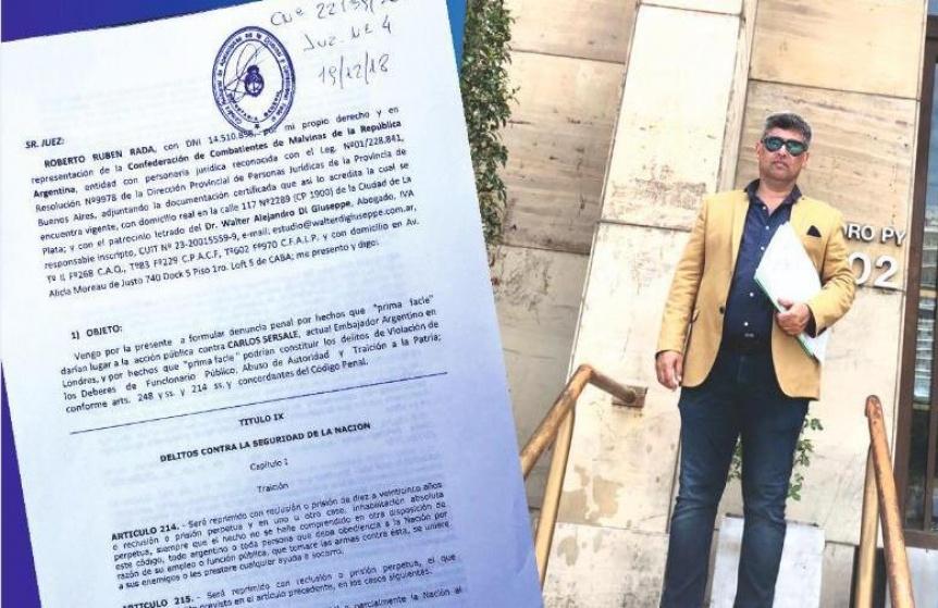 """Ex combatientes denunciaron al embajador argentino por """"traición a la Patria"""""""
