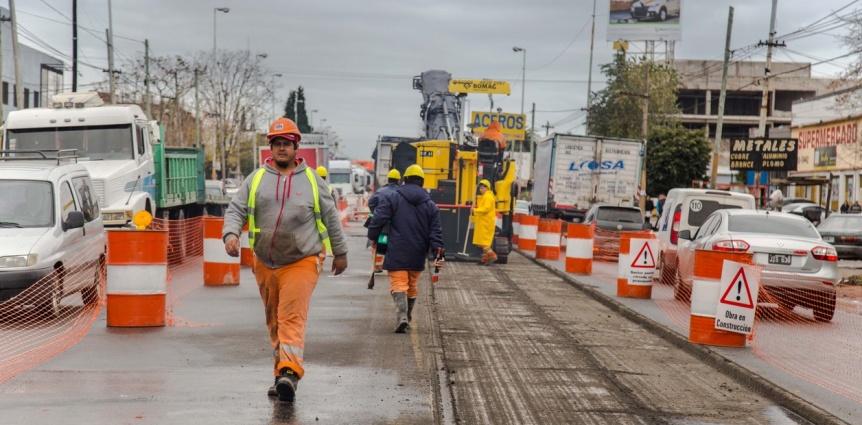 Desvío de tránsito en el oeste del distrito por el avance de la obra del Metrobus