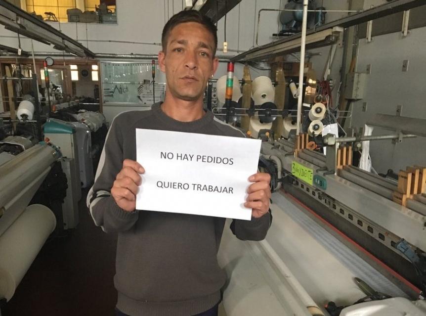 Empresa textil local resiste la crisis a la espera de la recuperación económica
