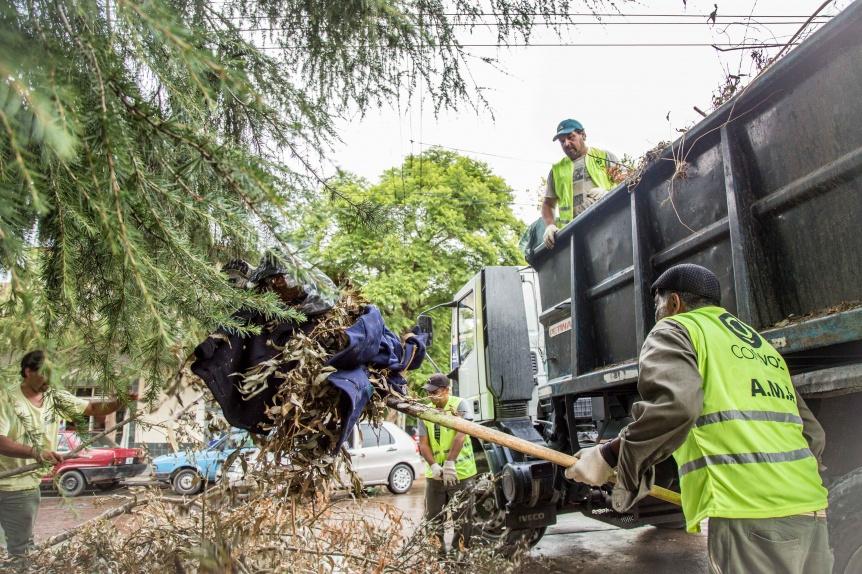 Se realizó un operativo intensivo de limpieza en la zona oeste y saneamiento hídrico