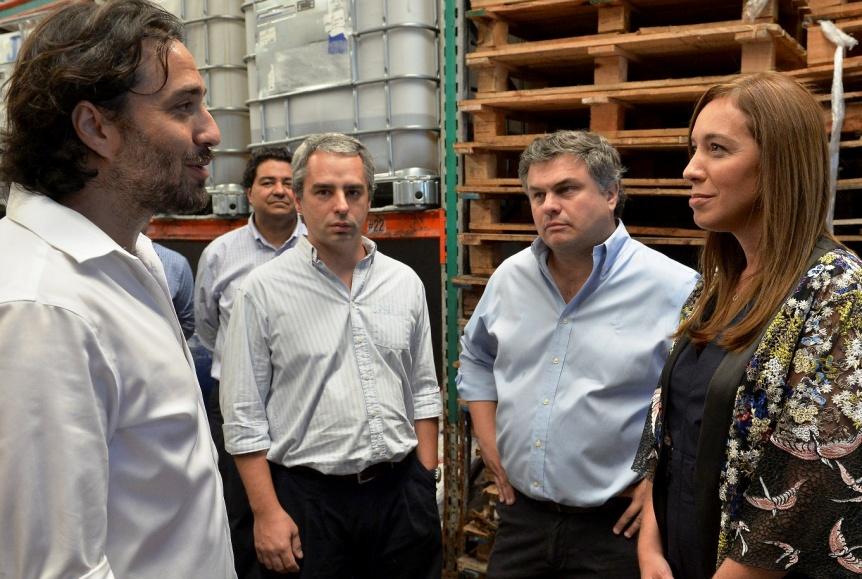 Mar�a Eugenia Vidal visit� una pyme de Villa Maip�
