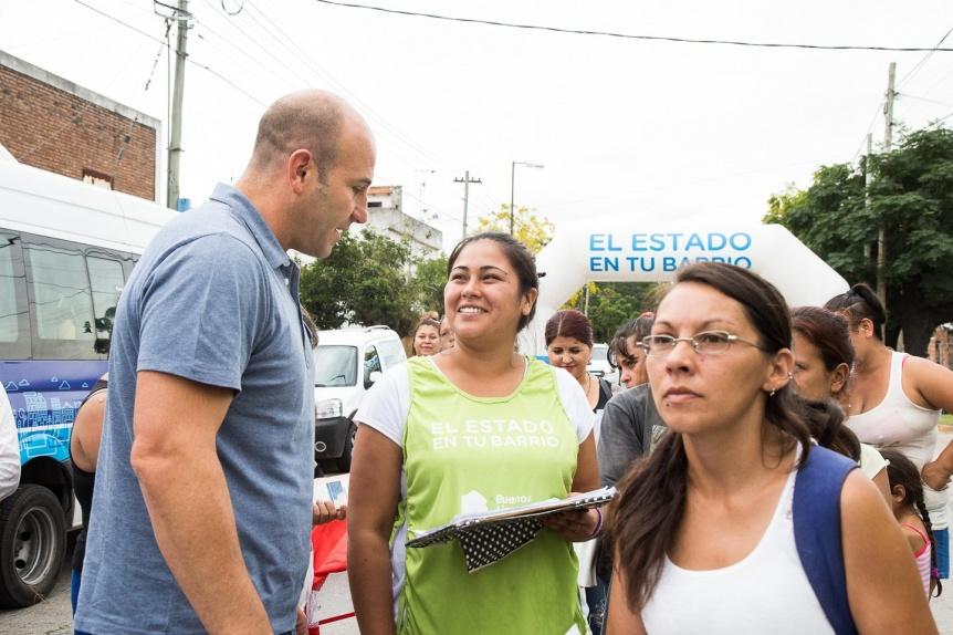 """Martiniano Molina recorrió """"El Estado en tu Barrio"""" en Monte Matadero"""
