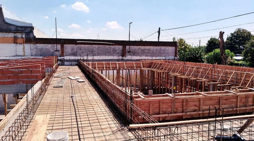 """Avanzan las obras en el Jardín 967 """"José Tedeschi"""" de Don Bosco"""