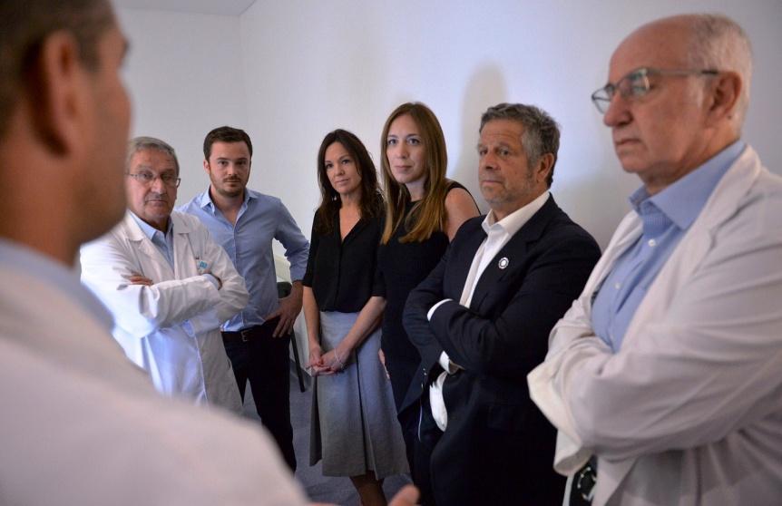 Mar�a Eugenia Vidal y Carolina Stanley visitaron el Hospital