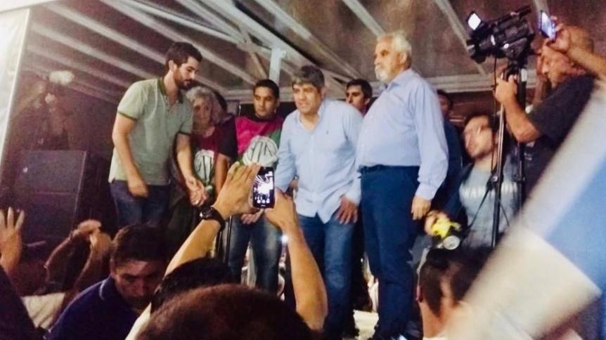 Pablo Moyano en Quilmes presidió acto contra el macrismo
