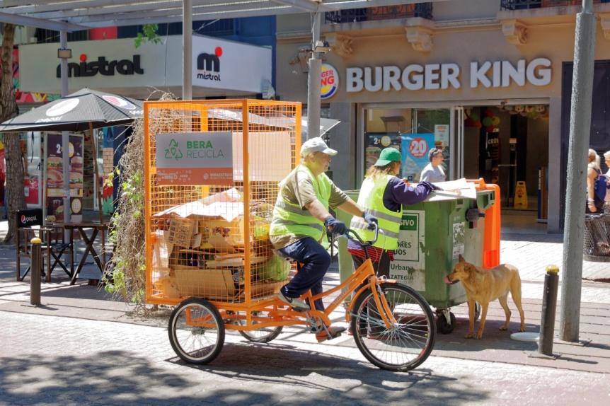 Berazategui suma bicis recicladoras para una ciudad más limpia