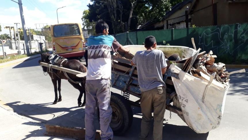 Sorprenden a carreros que intentaban robar rieles cerca de la estación Bernal