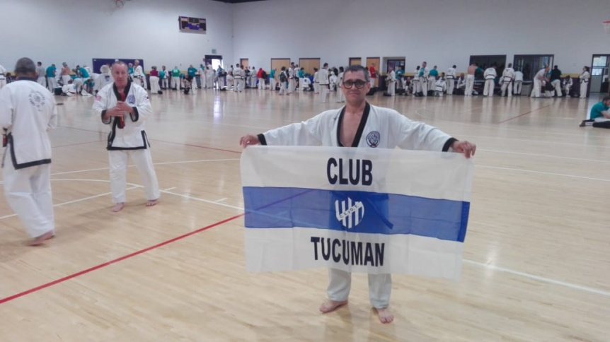 Profesor del Club Tucum�n particip� en un encuentro de artes marciales en Estados Unidos