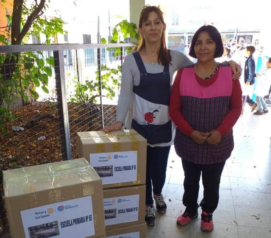 Donativos de Rotary Club Ezpeleta a establecimientos educativos