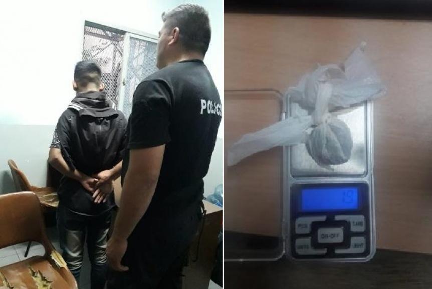 Aprehendido en posesi�n de marihuana en Berazategui