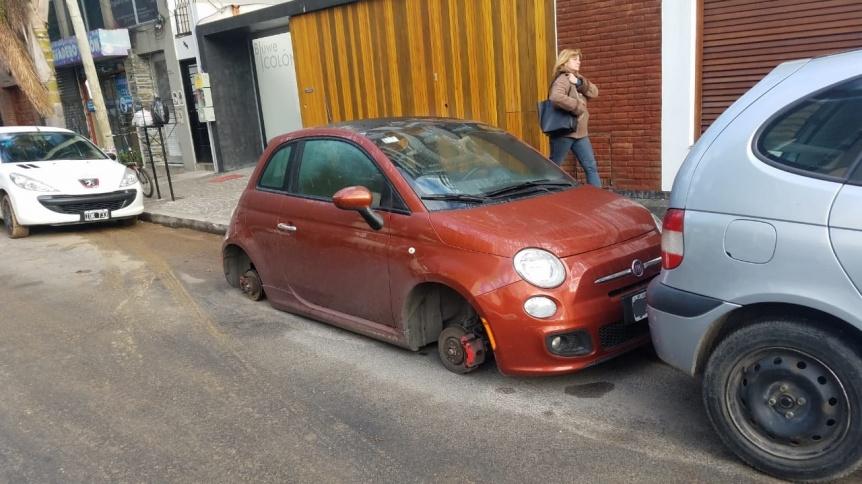 Roba ruedas atacaron en pleno centro de Quilmes