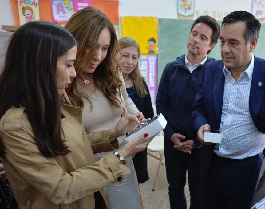 Vidal visit� una escuela secundaria del partido de La Matanza