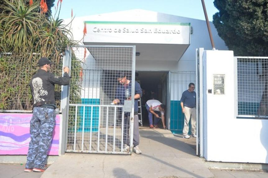Realizan reformas en el centro sanitario de San Eduardo