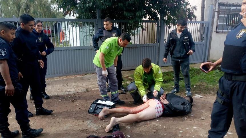 Secuestro, robos, tiroteo y dos detenidos tras persecuci�n en Quilmes