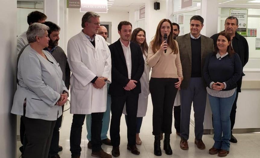 Vidal y Scarsi visitaron la nueva guardia del Hospital Cetrángolo de Vicente López