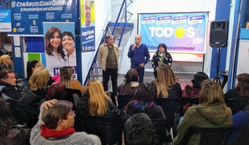 Plenario de Juntos por Quilmes tras los resultados de las PASO